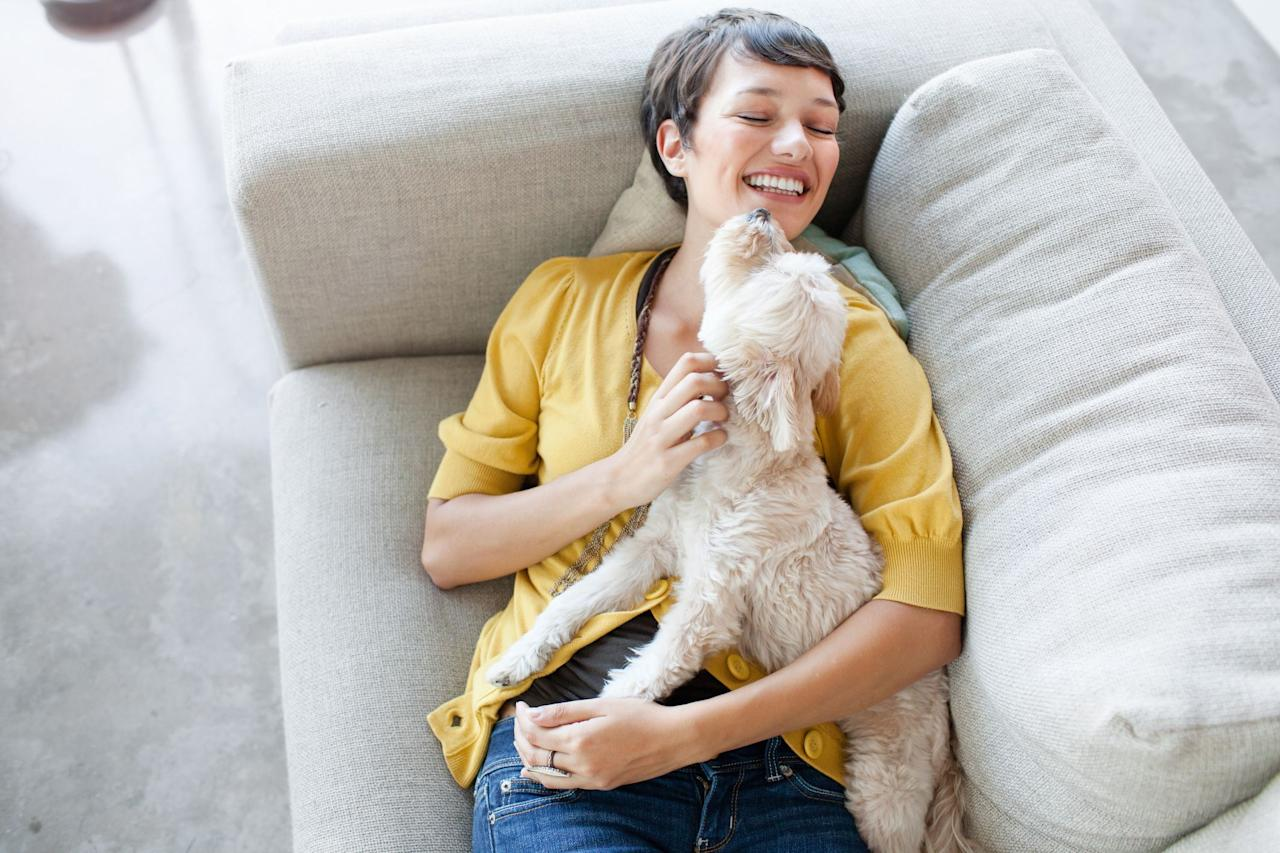 "<p>Pets, you gotta love 'em, right? And when you want to show your pet just how much you love them, there are so many ways to do it. The first thing that comes to mind might be giving your pet a handful of <a href=""https://www.womansday.com/life/pet-care/g2333/diy-homemade-dog-treats/"" target=""_blank"">treats</a>, but there are so many other more creative ways to show your affection. Some pet experts even argue that treats should be reserved for <a href=""https://www.womansday.com/life/pet-care/a27633621/how-to-potty-train-a-dog/"" target=""_blank"">training</a> and rewarding good behavior — <a href=""https://cobras.org/5-essential-rules-in-giving-dog-treats/"" target=""_blank"">not for whenever you feel like giving one out</a>. Additionally, according to Pet MD, dogs actually <a href=""https://www.petmd.com/blogs/thedailyvet/ken-tudor/2015/march/why-do-we-need-give-treats-our-pets-32537"" target=""_blank"">form a weaker bond</a> with people who just feed them as opposed to people who spend time exercising and playing with them, so you'll definitely want to try making a lengthy fetch session a weekly ritual for your dog.</p><p>So the next time you want to show your pet how much you love them, you can try any one of these methods that are just as good as — if not better — than treats. </p>"