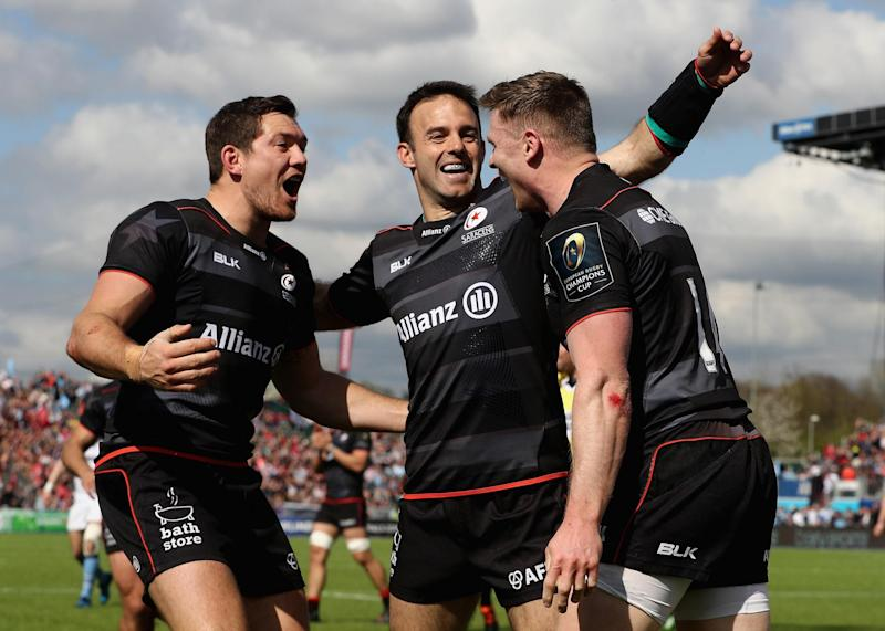 Saracens beat Glasgow Warriors 38-13 to reach the European Champions Cup semi-finals: Getty