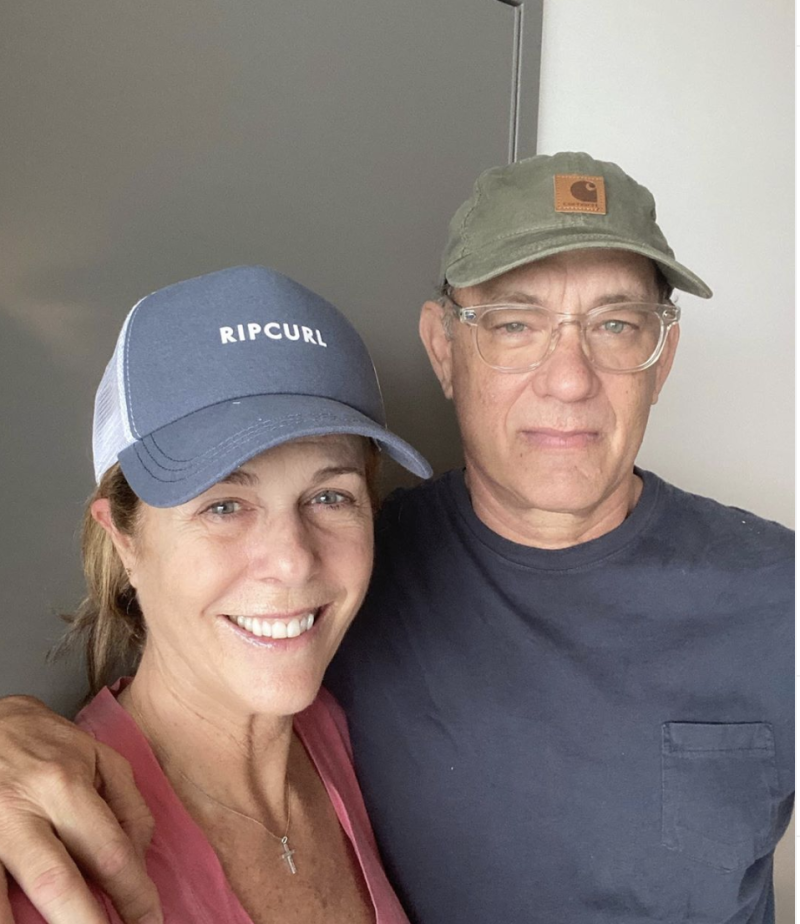 Rita Wilson and Tom Hanks tested positive for coronavirus last week. Photo: Instagram/Tom Hanks