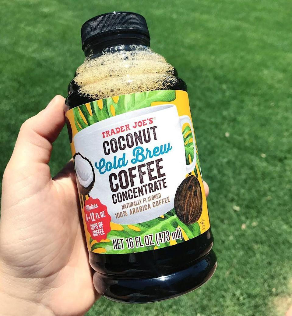 <p>The medium-roast coffee has an extra kick with coconut! One bottle makes four 12-ounce cups (that is, if you can stop yourself from drinking it all at once).</p>
