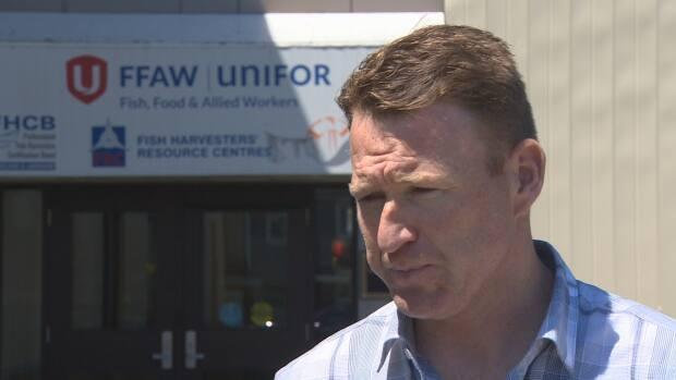 FFAW president Keith Sullivan suspects a fire at the union headquarters in St. John's was deliberately set.  (Eddy Kennedy/CBC - image credit)
