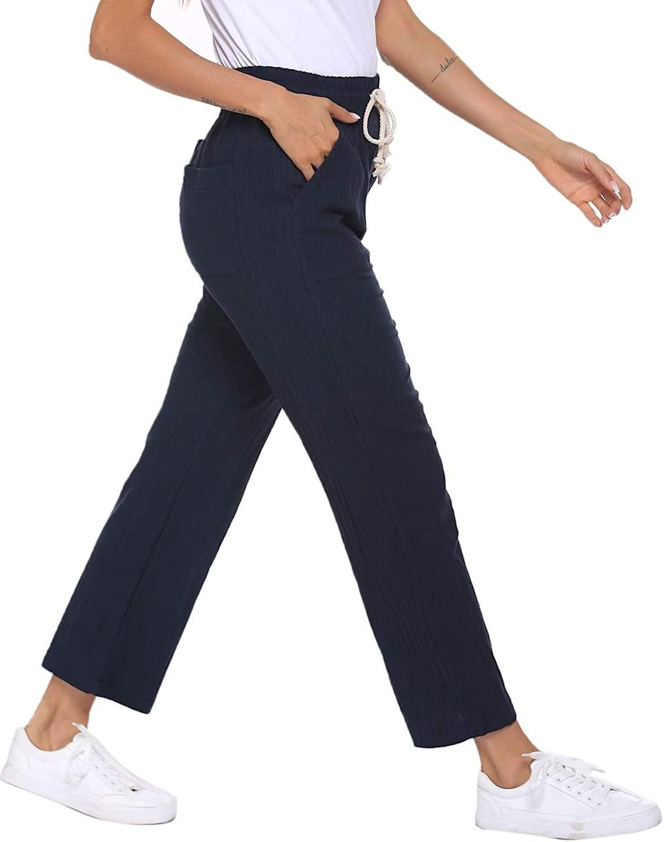 <p>These lightweight <span>Ekouaer Cotton Pants</span> ($22) are perfect for when you want to be casual and comfy.</p>