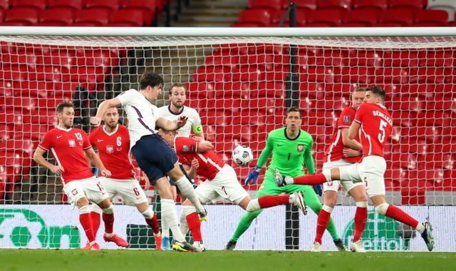 Harry Maguire scores England's winner against Poland