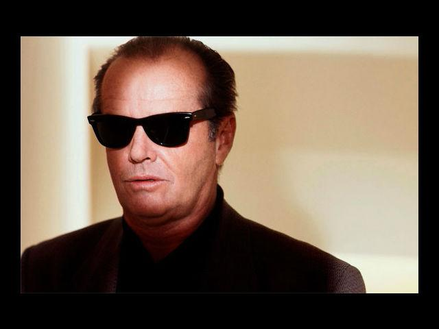 <b>Jack Nicholson:</b> If Jack Nicholson had a competition with his colleagues in the film world for style, he would drink them all up.
