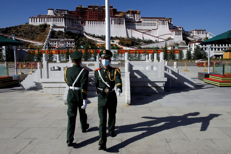 FILE PHOTO: China showcases poverty alleviation during a government organised tour of Tibet