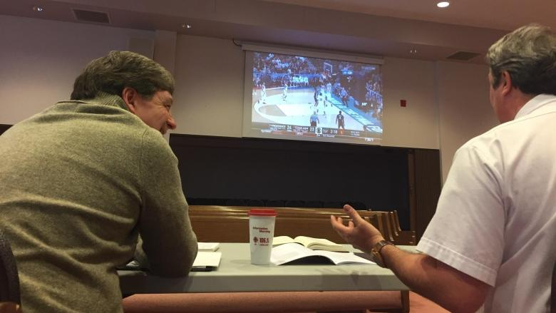 Basketball-loving ministers move into sanctuary for March Madness