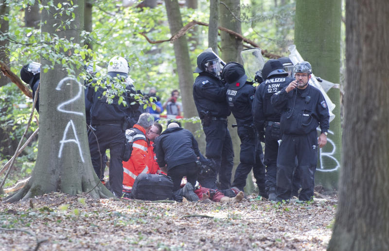 Image result for Journalist Dies During German Police Sweep of Hambach Forest