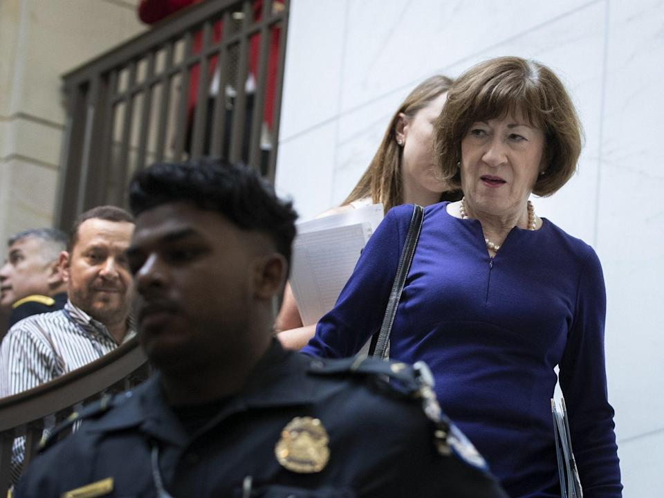 Susan Collins on Capitol Hill (Getty)