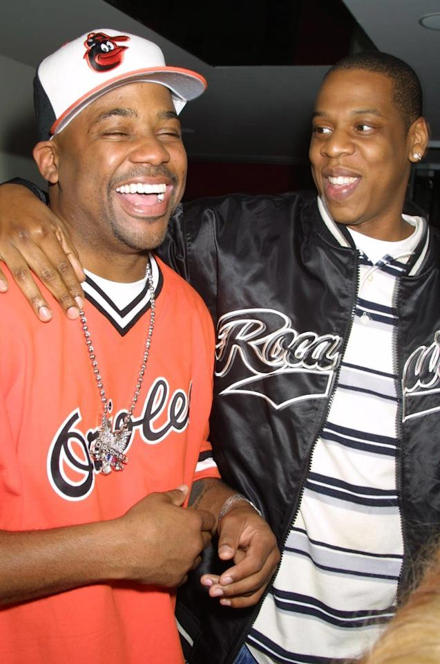 """JAY-Z co-founded Roc-A-Fella Records in 1995 with Damon """"Dame"""" Dash and Kareem """"Biggs"""" Burke."""