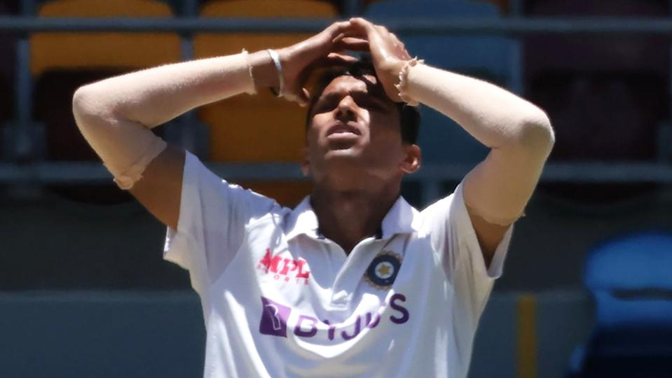 India's Navdeep Saini has become the latest injury concern for the touring side, suffering a suspected groin problem. (Photo by DAVID KAPERNICK/AFP via Getty Images)