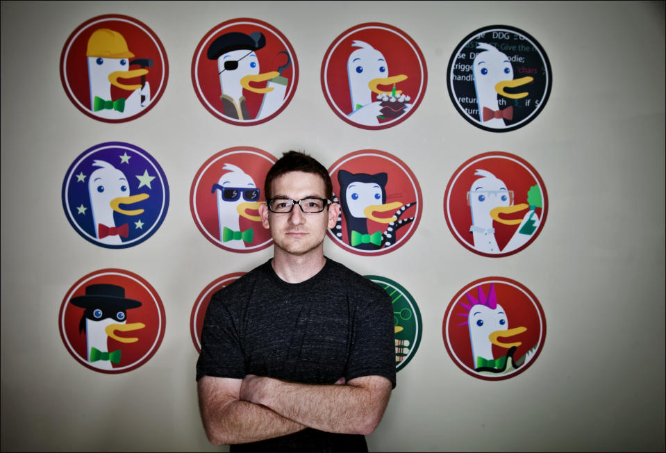 PAOLI, PA. , Gabriel Weinberg is creator of duckduckgo.com, a search engine that does not track users history and information. 06/13/2012   SEAN SIMMERS, FOR THE WASHINGTON POST