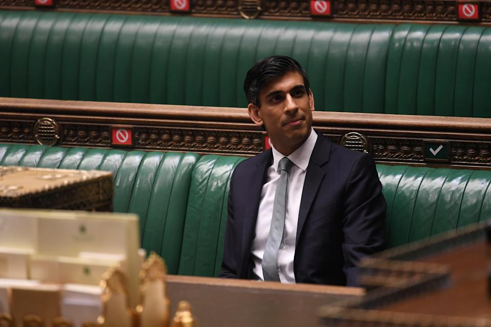 <p>Rishi Sunak did not delay in relating the welcome news that the OBR now expects a 'swifter and more sustained economic recovery' thanks to the impressive vaccine roll out </p> (via REUTERS)