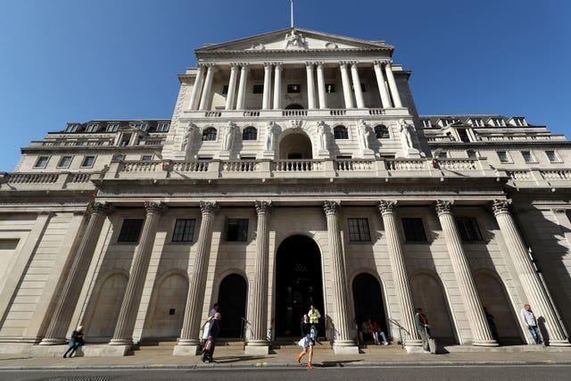The exterior of the Bank of England