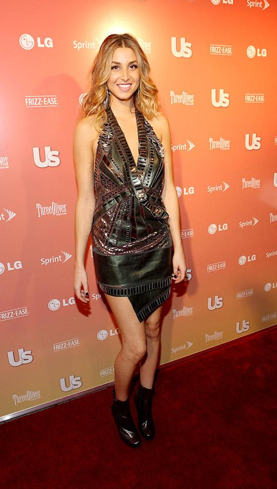 """Budding fashionista/""""City"""" star Whitney Port rocked an interesting cocktail frock and patent leather ankle booties. Bennett Raglin/<a href=""""http://www.wireimage.com"""" target=""""new"""">WireImage.com</a> - September 16, 2009"""