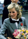 <p>Shortly after the birth of Prince Harry in 1984, Princess Diana experimented with a more coiffed look. The Princess of Wales opted for a side parting fastened with dainty slides.<br><em>[Photo: PA]</em> </p>