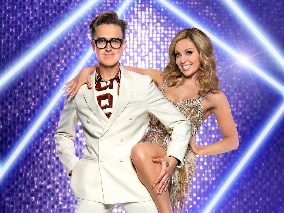 Tom Fletcher and Amy Dowden have tested positive for Covid (Ray Burmiston/BBC/PA Wire)
