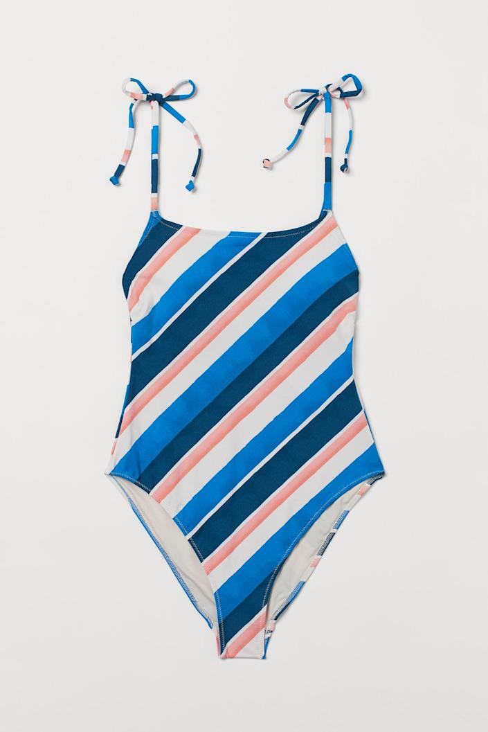<p>We're sold on the playful and visually striking look of this <span>High Leg Swimsuit</span> ($35).</p>