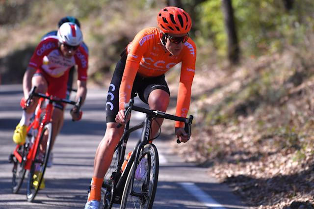 Jonas Koch (CCC Team) leads the early break on stage 2 of the our de La Provence