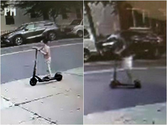 A man shoved a boy, 6, off his e-scooter and rode off in New York City.  (Family handout)