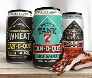 Kansas City in a can. Rufus Teague and Boulevard Brewing combine to create three unique BBQ sauces based on iconic craft beers.