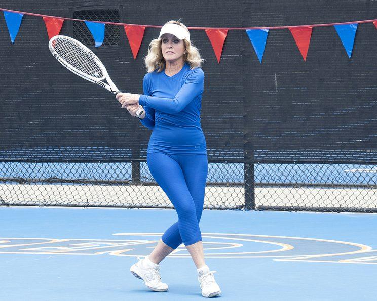 Donna Mills on ABC's Battle of the Network Stars. (Photo Credit: Byron Cohen/ABC)