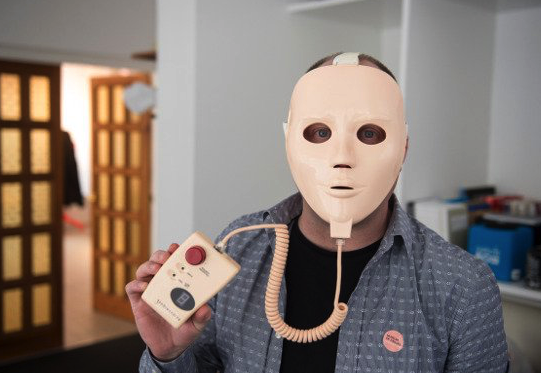 <p>This face mask was designed in the 1980s as a literally shocking skin care treatment. Nice idea, but it looks like something straight from a slasher film (Picture: Museum of Failure) </p>