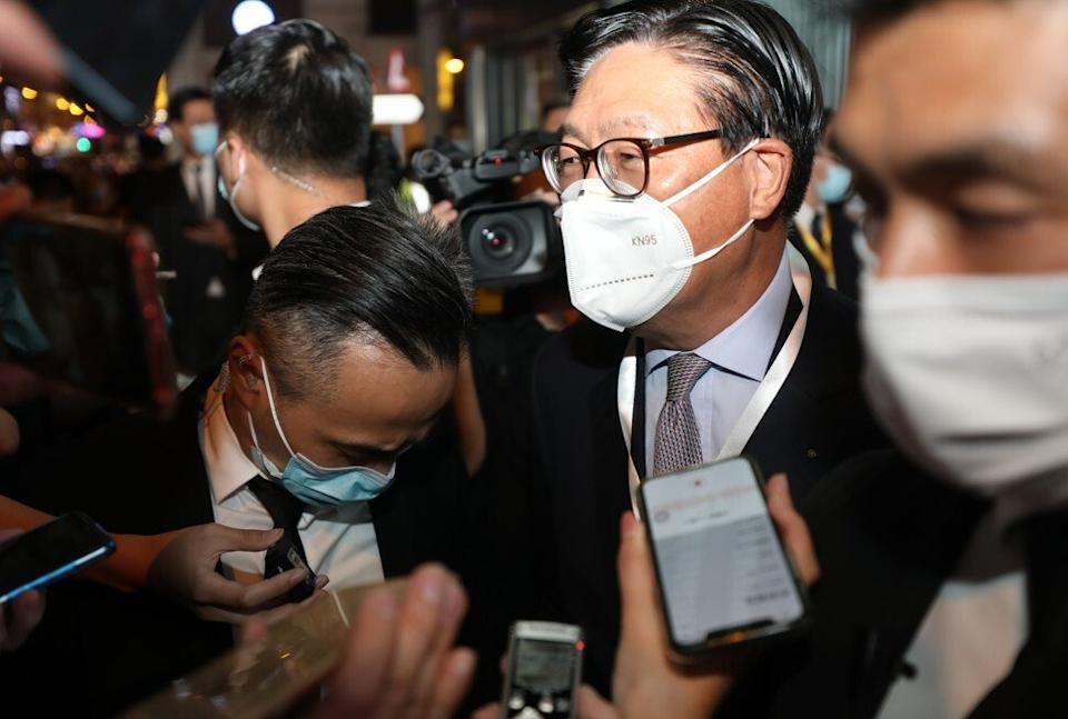 Frederick Ma Si-hang, former government official and one of the six board candidates nominated by Kwok Hiu-kwan. Photo: Xiaomei Chen
