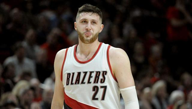 """The Blazers will be without <a class=""""link rapid-noclick-resp"""" href=""""/nba/players/5327/"""" data-ylk=""""slk:Jusuf Nurkic"""">Jusuf Nurkic</a> for the remainder of the regular season. (AP)"""