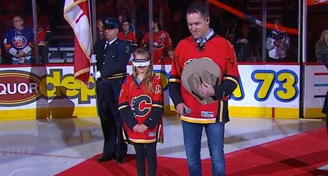 11-year-old Flames fan Olivia Lettich (NHL.com)