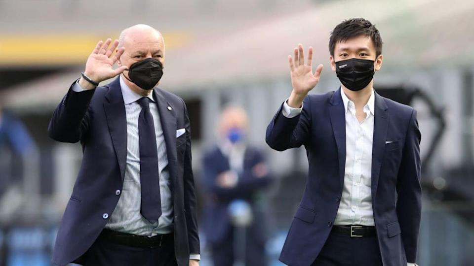 Beppe Marotta e Steven Zhang | Jonathan Moscrop/Getty Images