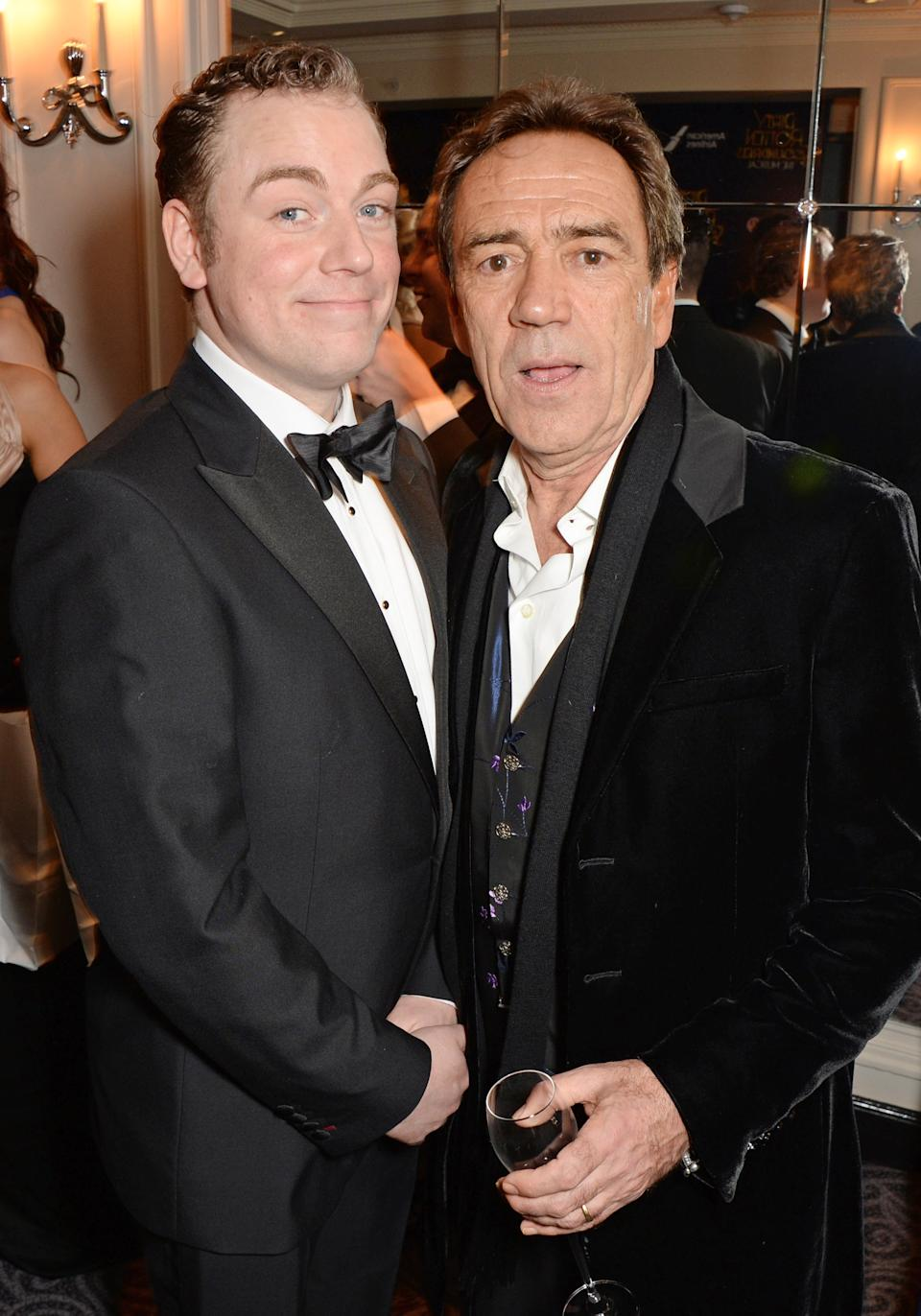 """LONDON, ENGLAND - APRIL 02: Rufus Hound (L) and Robert Lindsay attend an after party following the press night performance of """"Dirty Rotten Scoundrels"""" at The Savoy Hotel on April 2, 2014 in London, England. (Photo by David M. Benett/Getty Images)"""