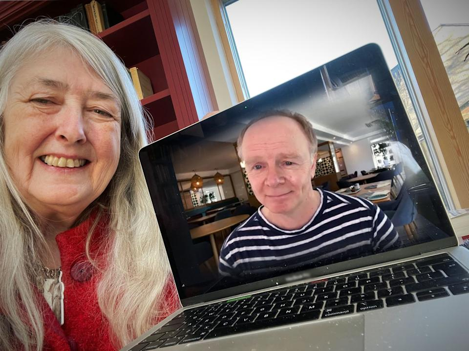 Inside Culture with Mary Beard sees her speak to Jason Watkins in tonight's episode. (BBC/Mary Beard)