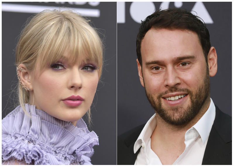 Taylor Swift has been fighting for control over her music. (Richard Shotwell, left, and Mark Von Holden/Invision/AP)