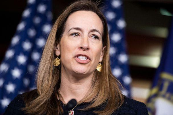 PHOTO: Rep. Mikie Sherrill conducts a news conference with members of the New Democrat Coalition on their 2020 agenda in the Capitol Visitor Center, Feb. 28, 2020. (Tom Williams/CQ-Roll Call via Getty Images)