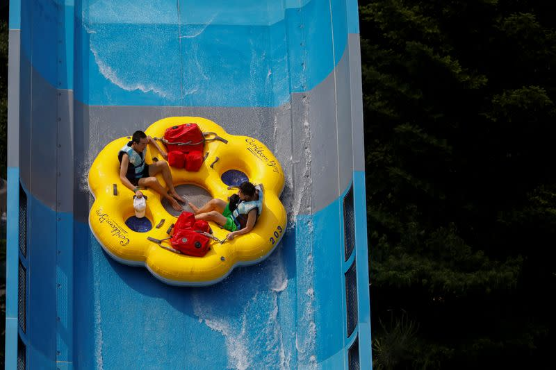 Testing the waters: South Korea's waterparks open under new anti-virus measures