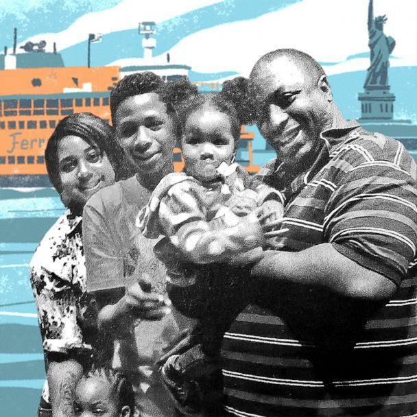PHOTO: Eric Garner, pictured here with family, was killed on July 17, 2014 in Staten Island, N.Y., after a New York City police officer put him in a choke hold. (Illustration by QU Lan/Photo Courtesy Gwen Carr)
