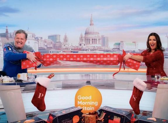 Piers Morgan and Susanna Reid hosted a Christmas day episode of Good Morning Britain (ITV)