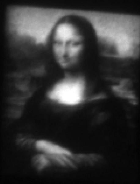 The 30-micron Mona Lisa demonstrates a technique that could potentially be used to achieve nano-manufacturing of devices.