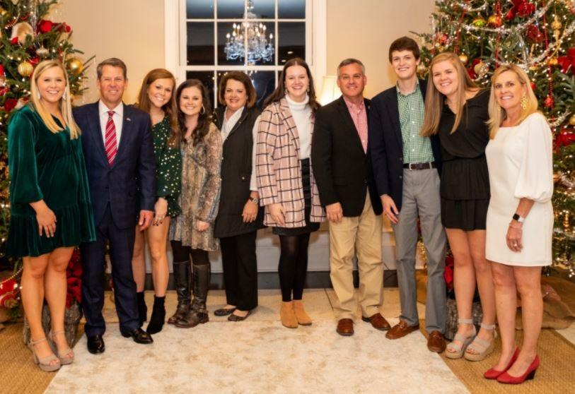 Harrison Deal, third from right, at a gathering with Gov. Brian Kemp and family.