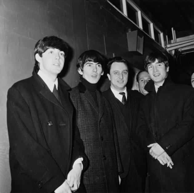 The Beatles with Ken Dodd in Manchester in 1963.