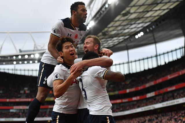 a7907b3219a6 Arsenal 1-1 Tottenham Hotspur  Harry Kane penalty secures a draw for ...