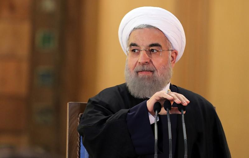 Iranian President Hassan Rouhani, pictured on January 17, 2016, is aiming to accelerate political and social reforms he promised before being elected in 2013, an outcome more likely if there are fewer hardline conservatives in parliament (AFP Photo/Atta Kenare)