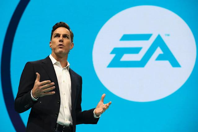 <p>No. 10 (tie): Electronic Arts CEO Andrew Wilson<br>CEO approval rating: 94 per cent<br>(Getty Images) </p>
