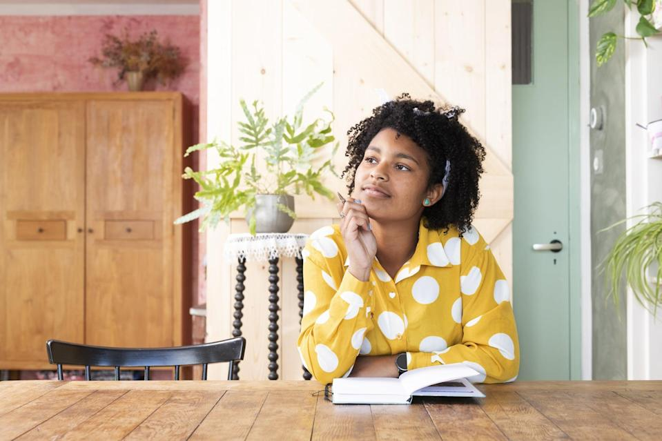 """<p>""""Some of the most effective journaling prompts tap into the idea of the future or how you would like your life to be,"""" said <a href=""""https://www.drnataliebernstein.com/"""" class=""""link rapid-noclick-resp"""" rel=""""nofollow noopener"""" target=""""_blank"""" data-ylk=""""slk:Natalie Bernstein"""">Natalie Bernstein</a>, clinical psychologist and mental health coach. By doing this, you're allowing yourself to focus on the life you want to be living, """"rather than thinking about the overwhelming aspect of having to get there,"""" explained therapist Luis Cornejo, LMFT, founder of <a href=""""https://psychosocial.media/"""" class=""""link rapid-noclick-resp"""" rel=""""nofollow noopener"""" target=""""_blank"""" data-ylk=""""slk:PsychoSocial"""">PsychoSocial</a>. You're creating motivation by giving yourself a glimpse of what your life could be like after you go through the work, Cornejo told POPSUGAR.</p> <p>Try these prompts:</p> <ul> <li>If you could wake up tomorrow and your life would be exactly the way you want, what would it look like?</li> <li>Write a letter to your future self, the person you hope to be in the future. Where do you live? What kind of job do you have? Are you in a relationship? Be as specific as possible.</li> </ul>"""
