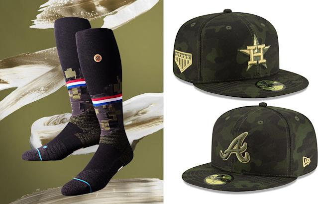 MLB uniforms for Armed Forces Day in 2019. (MLB)