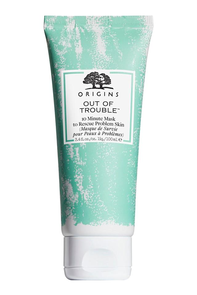 "<p>""I actually just purchased the Origins Out of Trouble Mask and I think I've found my holy grail. Zinc oxide, sulfur, and salicylic acid all in one. I've used it twice so far, and it has stopped any blemishes I've had in their tracks. I'd definitely recommend it to those with mild acne like myself."" Says <a href=""https://www.reddit.com/user/brittygree"" target=""_blank"">brittygree</a>.</p><p><a class=""body-btn-link"" href=""https://go.redirectingat.com?id=127X1599956&url=https%3A%2F%2Fwww.asos.com%2Forigins%2Forigins-out-of-trouble-10-minute-mask-to-rescue-problem-skin-75ml%2Fprd%2F11788336&sref=http%3A%2F%2Fwww.cosmopolitan.com%2Fuk%2Fbeauty-hair%2Fg14477777%2Fbest-face-mask-for-acne%2F"" target=""_blank"">buy now</a></p>"