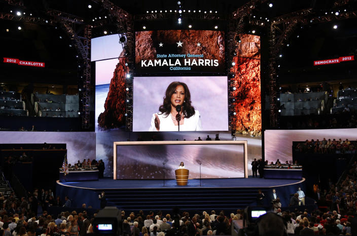 Kamala Harris addresses the Democratic National Convention in Charlotte, N.C., in 2012. (Photo: Jason Reed/Reuters)