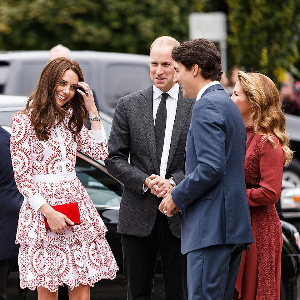 "<p>If you're at an event and the thought of shaking hands with a stranger isn't your cup of tea, then you might want to invest in a good clutch bag. As <a rel=""nofollow"" href=""http://www.goodhousekeeping.com/life/entertainment/g4089/kate-middleton-hosting-etiquette/"">reported in</a> <em>Good Housekeeping</em>, when the Duchess of Cambridge is at an event, she holds her clutch in front of her, in both hands, ""when shaking hands might be awkward.""<br />""It is protocol that you do not extend your hand to any member of the royal family (blood royal or those who have married into the family) unless <a rel=""nofollow"" href=""http://www.glamour.com/story/why-kate-middleton-always-carries-a-clutch?mbid=synd_yahoostyle"">their hand extends first</a>,"" further <a rel=""nofollow"" href=""https://www.yahoo.com/style/why-kate-middleton-always-carries-173528963.html?_fsig=zCsj__kDPCv1jJoM_9hNAA--"">explained</a> The Daily Mail's royal expert<i> </i>William Hanson. Hence why the royal wants something she can hold with both hands.<br />The style then allows her to easily switch to one hand when necessary. <br /><em>(Photo: Getty)</em> </p>"