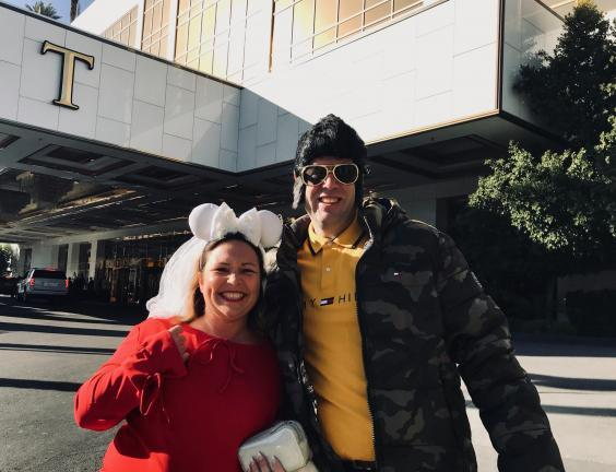 Steffan Starcluf and Peggy Shorn only discovered the president was staying at his own hotel once they checked in (Andrew Buncombe )