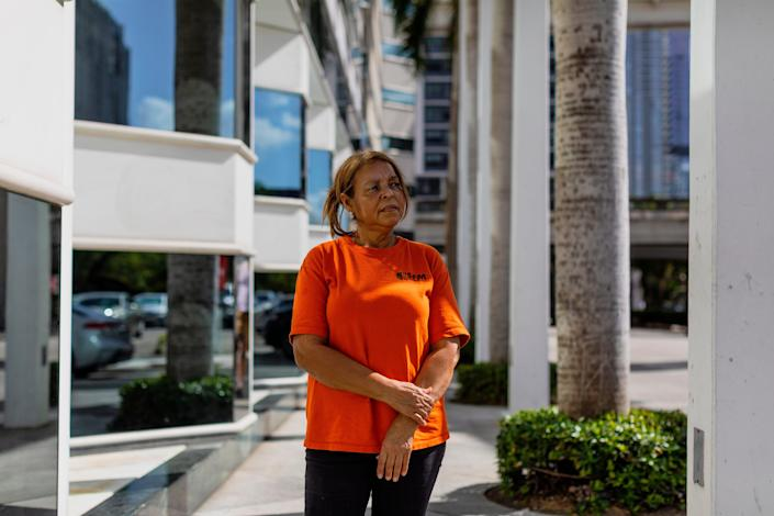 Elsa Romero, a janitor working for minimum wage in Miami, says she can't afford insulin for her diabetes.